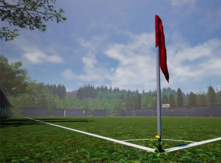 Die Beginnerbolzplatz im Fußballmanger