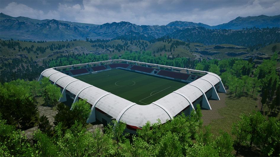 Bild eines Stadions aus dem Managerspiel