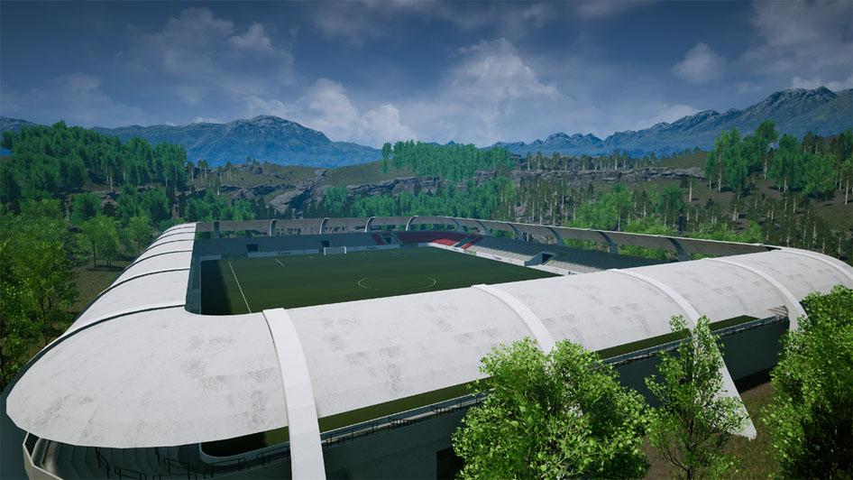 Bild eines Stadions (Außenansicht) - suche online Fußballmanger